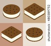 set of ice cream sandwich... | Shutterstock .eps vector #480389752