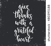 give thanks with a grateful... | Shutterstock .eps vector #480395188