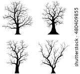 collection of trees silhouettes ... | Shutterstock .eps vector #480409855