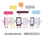 Group Of Happy Smartphones ...