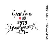 grandparents day background | Shutterstock .eps vector #480435802