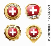 made in switzerland. swiss.... | Shutterstock .eps vector #480437005