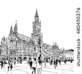 germany. munich. marienplatz.... | Shutterstock .eps vector #480450376