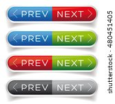 next previous button red and... | Shutterstock .eps vector #480451405