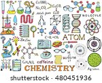 chemistry science doodle hand... | Shutterstock .eps vector #480451936