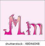 english alphabet in a pink color   Shutterstock .eps vector #48046048