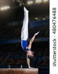 Portrait Of Young Man Gymnasts...