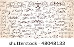 set of floral design elements | Shutterstock .eps vector #48048133