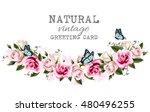 natural vintage greeting frame... | Shutterstock .eps vector #480496255