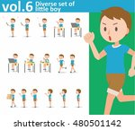 diverse set of little boy on...   Shutterstock .eps vector #480501142