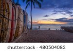 honolulu  usa   aug 8  surf... | Shutterstock . vector #480504082