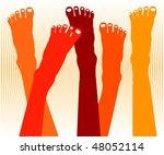 healthy feet vector. | Shutterstock .eps vector #48052114