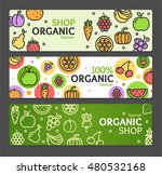 eco shop banner horizontal set... | Shutterstock . vector #480532168