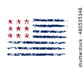 american flag grunge  symbol... | Shutterstock .eps vector #480535348