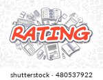 business illustration of rating.... | Shutterstock . vector #480537922
