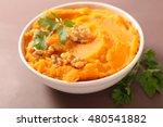 sweet potato puree | Shutterstock . vector #480541882