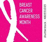 vector watercolor pink ribbon   ... | Shutterstock .eps vector #480551035