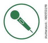 microphone  icon.  flat design.