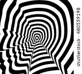 Stock photo concentric oncoming abstract symbol steve jobs profile optical visual illusion 480559198