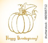 happy thanksgiving day greeting ... | Shutterstock .eps vector #480585712