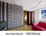 modern luxury interior   hall...   Shutterstock . vector #48058666