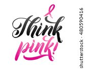 Think Pink. Vector Breast...