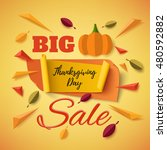 big thanksgiving day sale... | Shutterstock .eps vector #480592882