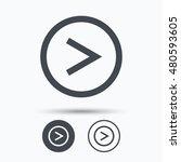 arrow icon. next navigation... | Shutterstock .eps vector #480593605