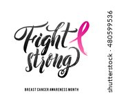 fight cancer. vector breast... | Shutterstock .eps vector #480599536