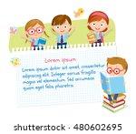 children design with pupils in... | Shutterstock .eps vector #480602695