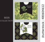 beer house background. hops... | Shutterstock .eps vector #480604612