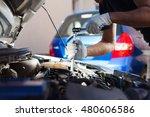 mechanic working in auto repair ... | Shutterstock . vector #480606586