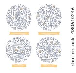 doodle vector illustrations of... | Shutterstock .eps vector #480610246