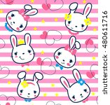 Seamless Pattern  Cartoon Cute...