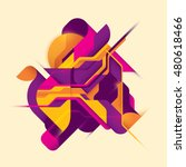 abstract style digital... | Shutterstock .eps vector #480618466