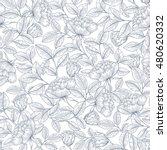seamless hand drawn line art... | Shutterstock .eps vector #480620332