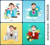emotion design concept set with ... | Shutterstock . vector #480623638