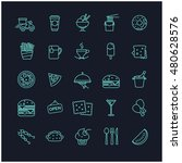 fast food icons vector set for... | Shutterstock .eps vector #480628576