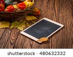 Autumn Background And Tablet O...