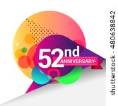 52nd anniversary logo  colorful ... | Shutterstock .eps vector #480638842