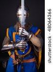 image of knight in combat...   Shutterstock . vector #48064366