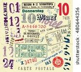 vector document stamp set.... | Shutterstock .eps vector #480644356