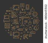 vector line concept for...   Shutterstock .eps vector #480645502