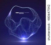 dot pattern composed of mesh... | Shutterstock .eps vector #480647542