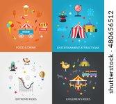 traveling circus amusement park ... | Shutterstock . vector #480656512