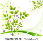 floral background vector | Shutterstock .eps vector #48066064