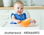 little baby are eating  | Shutterstock . vector #480666892