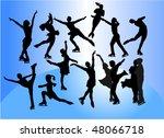 figure skating vector silhouette | Shutterstock .eps vector #48066718