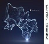 dot pattern composed of mesh... | Shutterstock .eps vector #480667996