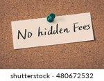 no hidden fees   Shutterstock . vector #480672532